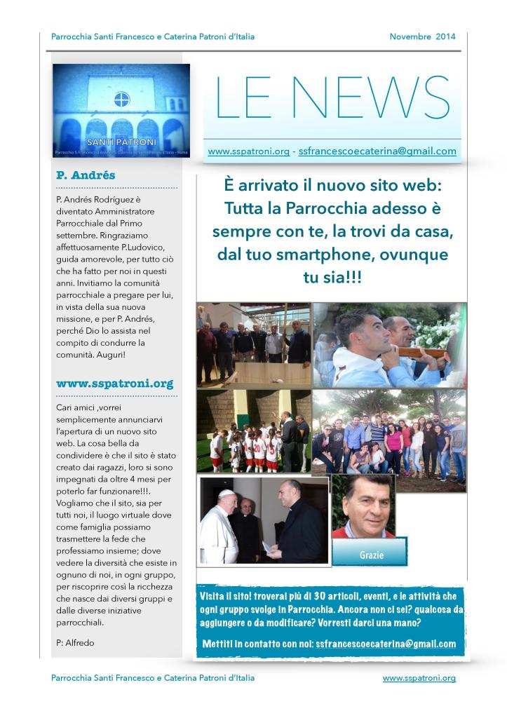 La Newsletter mensile è pronta….